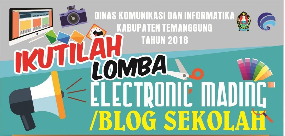 Lomba Electronic Mading Blog Sekolah Pengumuman Kominfo